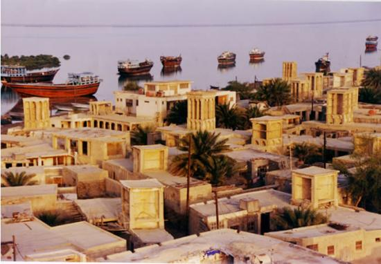 Harbor Laaft in northwestern of Qeshm Island