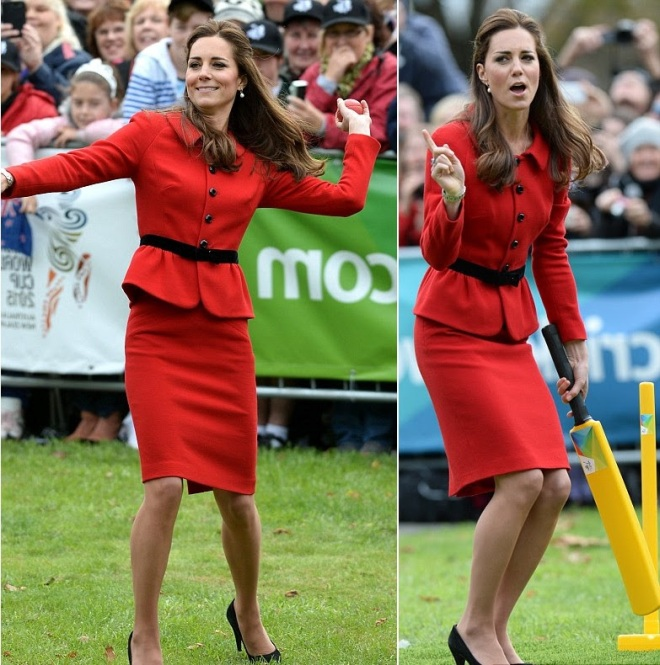 William and Kate Bowl Each Other Over With a Game of Cricket (3)